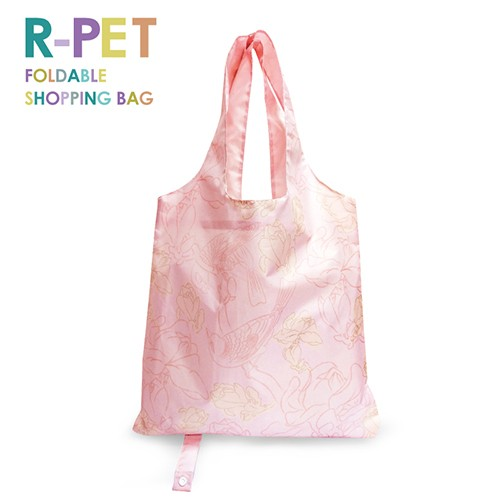 M007-Pink Begonia-100% RPET Reusable Tote Shopping Bag, Custom Logo Printing, Gifts & Souvenirs, Lightweight Portable Foldable Shopping Bag.