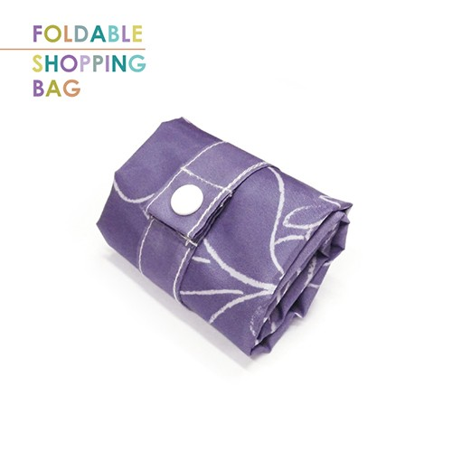 PL009-Purple Frosty Bird - Custom Promotional Gift Shopping Bag, ECO-Friendly Grocery Tote Bag, Waterproof Durable Lightweight Polyester Bag