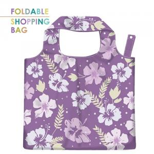 PL002-Eco-Friendly Polyester Foldable Bag, Supermarket Grocery Tote Bags With Water Resistance.